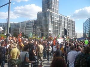 Manifestación en Postdamer Platz. Foto: G.H.